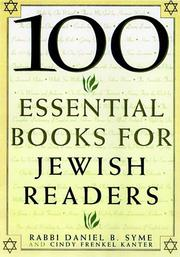Cover of: 100 essential books for Jewish readers