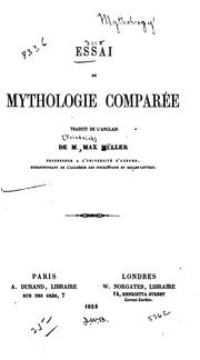 Cover of: Essai de mythologie comparée by F. Max Müller