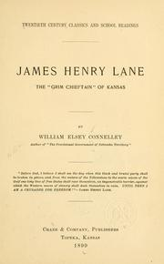 Cover of: James Henry Lane | Connelley, William Elsey