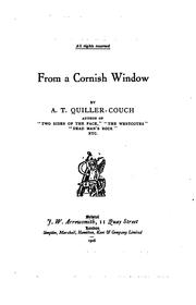 Cover of: From a Cornish window | Arthur Thomas Quiller-Couch
