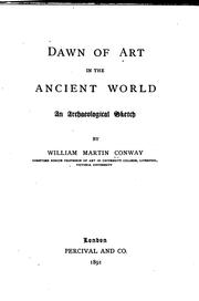 Cover of: Dawn of art in the ancient world