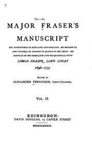 Major Frasers manuscript