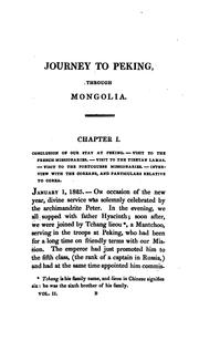 Cover of: Travels of the Russian mission through Mongolia to China