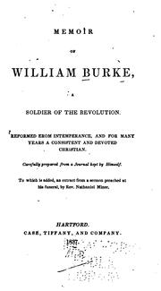 Cover of: Memoir of William Burke | Burke, William