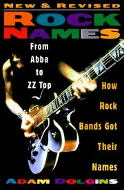 Cover of: Rock names