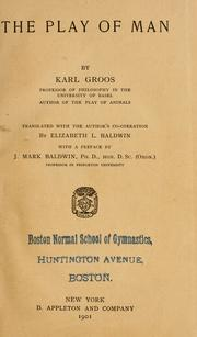 Cover of: The play of man