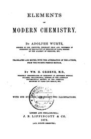 Cover of: Elements of modern chemistry