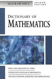 Cover of: Dictionary of Mathematics | McGraw-Hill
