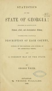 Cover of: Statistics of the state of Georgia | White, George