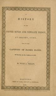 Cover of: A history of the copper mines and Newgate Prison, at Granby, Conn