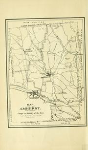 Cover of: History of the town of Amherst, Hillsborough county, New Hampshire | Daniel F. Secomb