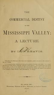 Cover of: The commercial destiny of the Mississippi valley