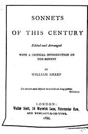 Cover of: Sonnets of this century. | Sharp, William