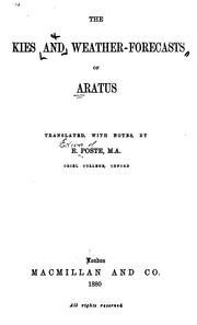 Cover of: skies and Weather-forecasts of Aratus | Aratus Solensis