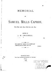 Cover of: Memorial of Samuel Mills Capron | Joseph Hopkins Twichell