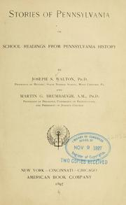 Cover of: Stories of Pennsylvania | Joseph Solomon Walton