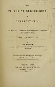 Cover of: The pictorial sketch-book of Pennsylvania