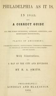 Cover of: Philadelphia as it is in 1852 by Smith, R. A.
