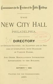 Cover of: new city hall, Philadelphia | Philadelphia (Pa.). Commissioners for the Erection of the Public Buildings.