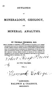 Cover of: Outlines of mineralogy, geology, and mineral analysis
