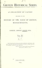 Cover of: Groton historical series