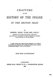 Cover of: Chapters on the history of the insane in the British Isles