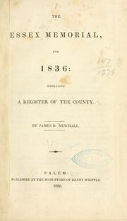 Cover of: The Essex memorial, for 1836