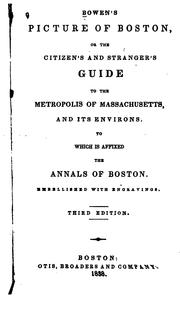 Cover of: Bowen's picture of Boston by Bowen, Abel