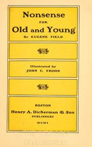 Cover of: Nonsense for old and young | Eugene Field
