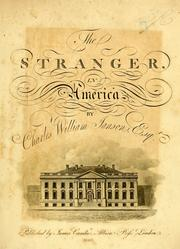 Cover of: stranger in America | Charles William Janson