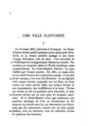 Cover of: Une ville flottants