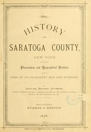 Cover of: History of Saratoga County, New York | Nathaniel Bartlett Sylvester