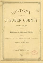 Cover of: History of Steuben county, New York by W. W. Clayton
