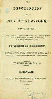 Cover of: description of the city of New York ... | Hardie, James