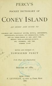 Cover of: Percy's Pocket dictionary of Coney Island by Townsend Percy
