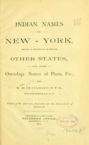 Cover of: Indian names in New-York | Beauchamp, William Martin