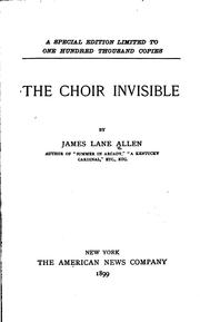Cover of: The Choir Invisible