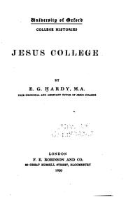 Cover of: Jesus college | Ernest George Hardy