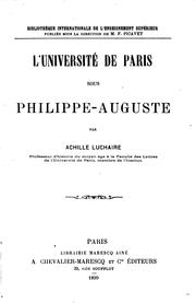 Cover of: L' Université de Paris sous Philippe-Auguste