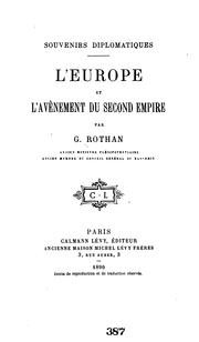 Cover of: Souvenirs diplomatiques: L'Europe et l'avènement du second empire