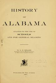 Cover of: History of Alabama | Miller, L. D.