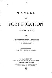 Cover of: Manuel de fortification de campagne