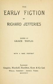 Cover of: The early fiction of Richard Jefferies