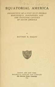 Cover of: Equatorial America by Ballou, Maturin Murray