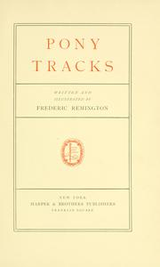 Cover of: Pony tracks