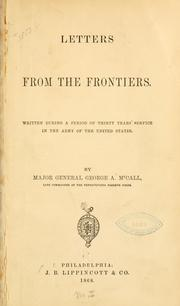 Cover of: Letters from the frontiers