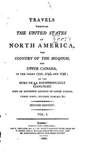 Cover of: Travels through the United States of North America
