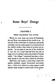 Cover of: Some boy's doings