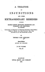 Cover of: A treatise on injunctions and other extraordinary remedies