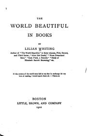 Cover of: The world beautiful in books | Lilian Whiting